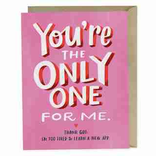 Paper E. Clips Valentines Card You're The Only One For Me