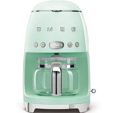 SMEG 10-CUP COFFEEMAKER PASTEL GREEN
