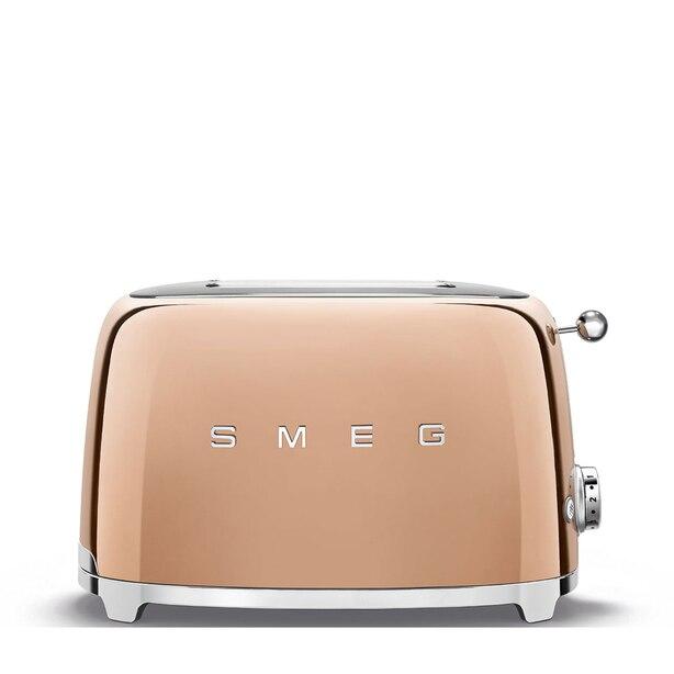 SMEG 2 SLICE TOASTER ROSE GOLD LIMITED EDITION