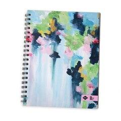 Denik Blue Watercolour Spiral Notebook