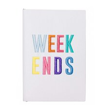 Weekends Layflat Softcover Journal