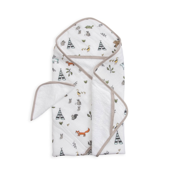 Little Unicorn Cotton Hooded Towel & Wash Cloth - Forest Friends Set