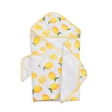 Little Unicorn Cotton Hooded Towel & Wash Cloth - Lemon Set