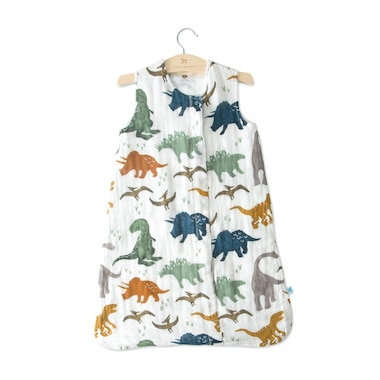 Little Unicorn Sleep Bag 100% Cotton Muslin 1.1 TOG Dino Friends Small 0 to 6 Months