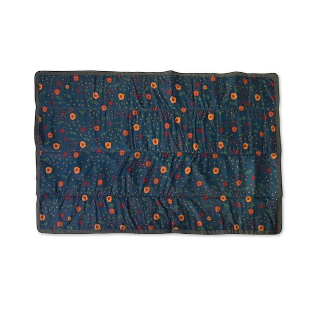 Little Unicorn Water Resistant Outdoor Blanket Midnight Poppy