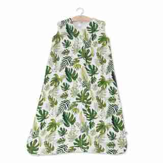 Little Unicorn Sleep Bag 100% Cotton Muslin 1.1 TOG Tropical Leaf Extra Large 18 to 24 Months