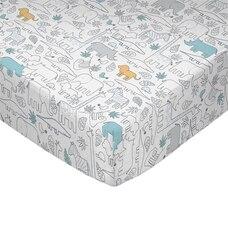 Lolli Living Crib Sheet Safari