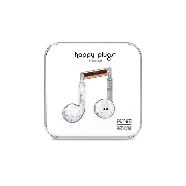 Happy Plugs Earbud Plus - White Marble
