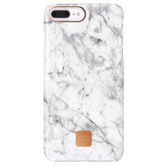 HAPPY PLUGS SLIM CASE FOR IPHONE 8 PLUS - WHITE MARBLE