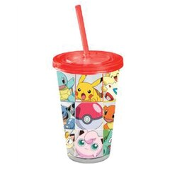 Pokemon Double Wall Tumbler with Straw