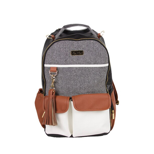 Itzy Ritzy Boss Backpack Diaper Bag Coffee and Cream