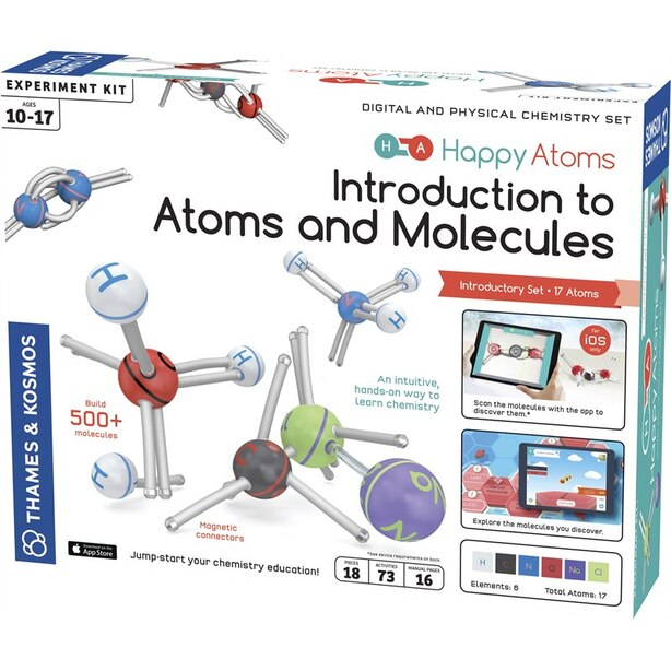 Thames & Kosmos Happy Atoms Introductory Set Science Experiment Kit