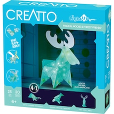 Thames & Kosmos Creatto: Magic Moose & Forest Friends (DIY Light-Up Crafting Kit)