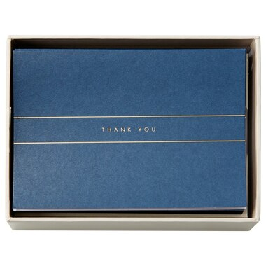 Navy Foil Thank You Notes