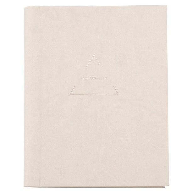 Large Embossed Journal - Geo Triangles, Grey