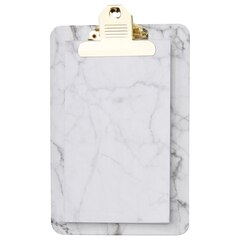 Clipboard Notepad — Marble, White