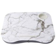 Plateau-coussin–Marbre blanc