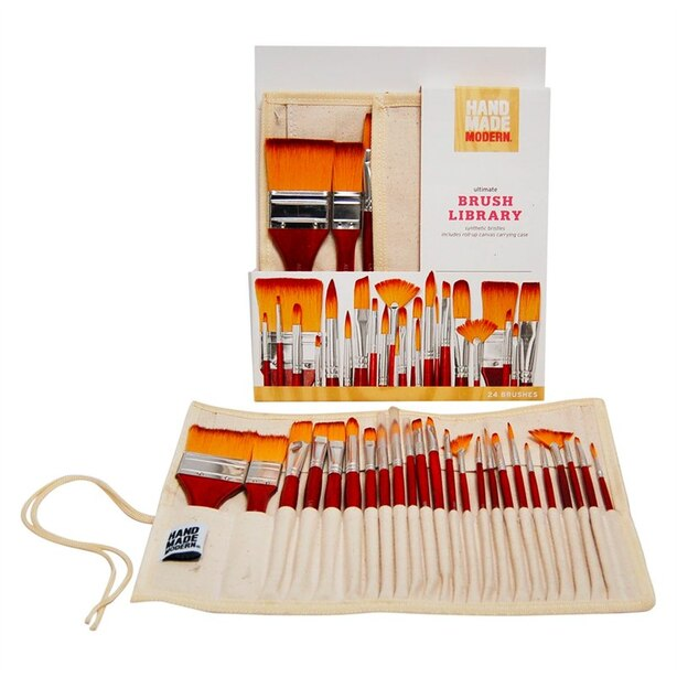 Hand Made Modern Ultimate Paintbrush Library Set of 24