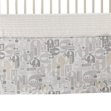 Lolli Living Naturi Bed Skirt - Elephant Print