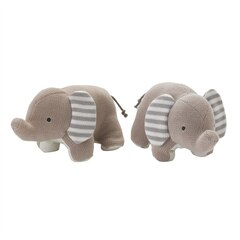 Lolli Living Naturi Knit Bookend Friends - Elephants