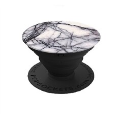 POPSOCKETS PHONE/TABLET STAND, MOUNT & GRIP - WHITE MARBLE