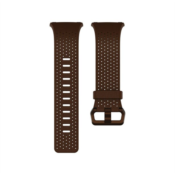 Fitbit Ionic Leather Accessory Band - Cognac, large