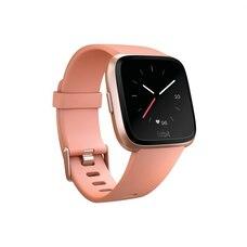Fitbit Versa Smartwatch - Rose Gold Aluminum Case and Peach Band