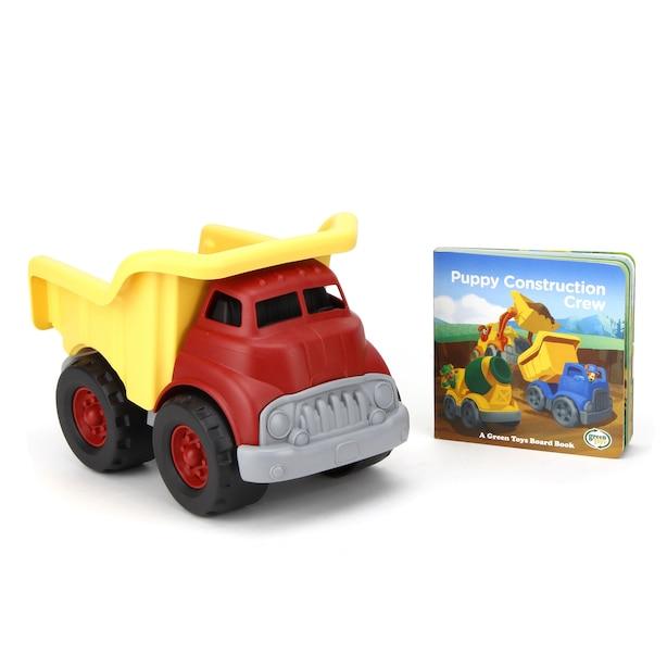 Green Toys Dump Truck & Puppy Construction Crew Board Book Exclusively at Indigo!