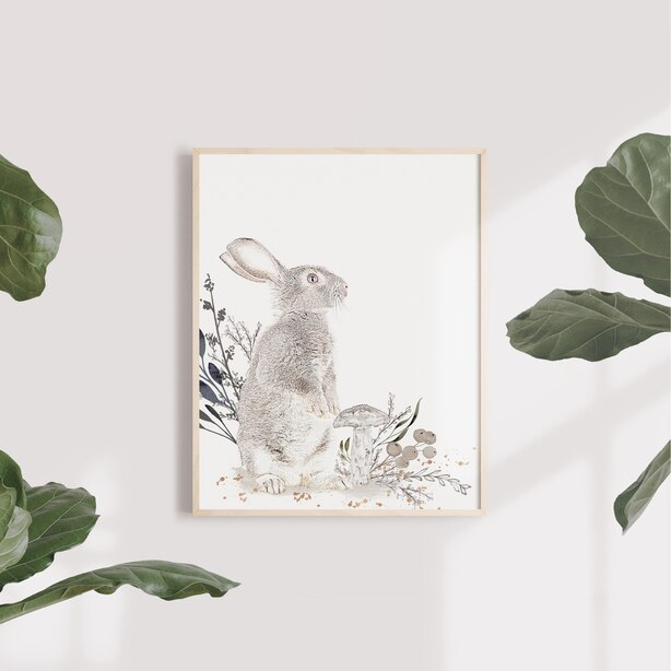Wall Art Paper Cottontail Stand 11 x 14