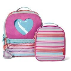 SKIP HOP FORGET ME NOT Backpack & Lunch Bag Set, Heart Stripe
