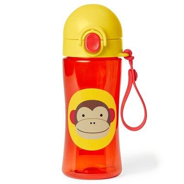 Skip Hop Zoo Lock-Top Sports Bottle, Monkey