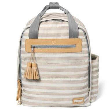 363e0891c99bc Skip Hop Riverside Ultra Light Diaper Backpack, Oyster Stripe
