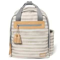 Skip Hop Riverside Ultra Light Diaper Backpack, Oyster Stripe