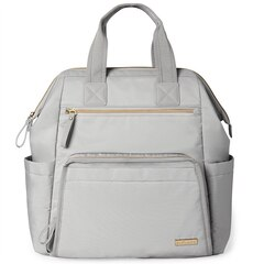 Skip Hop Mainframe Wide Open Diaper Bag Backpack, Cement