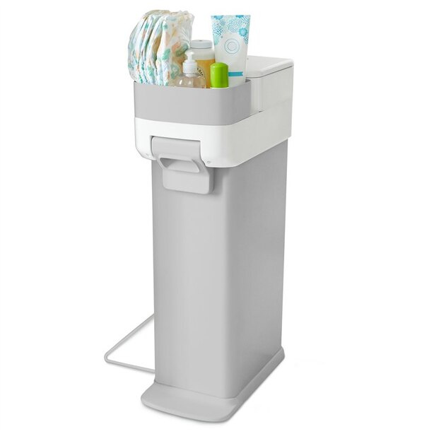Skip Hop® Nursery Style Diaper Pail Grey and White