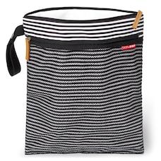Skip Hop Grab & Go Wet/Dry Bag - Black/White Stripe