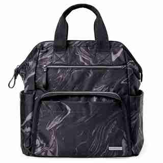 Skip Hop Mainframe Wide-Open Diaper Backpack-Black Marble