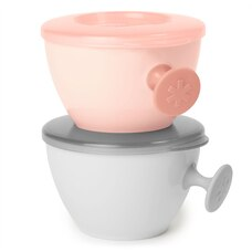 Skip Hop Easy - Grab Bowl - Grey / Soft Coral