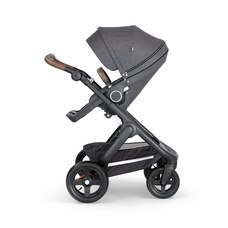 Stokke® Trailz™ Chassis Black Melange with Handle Brown