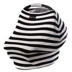 MILK SNOB MULTI USE BABY CAR SEAT COVER, BLACK & WHITE SIGNATURE STRIPES