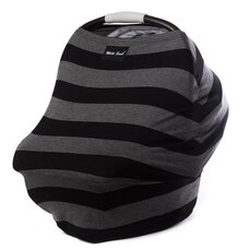MILK SNOB MULTI USE BABY CAR SEAT COVER BOLD BLACK GREY