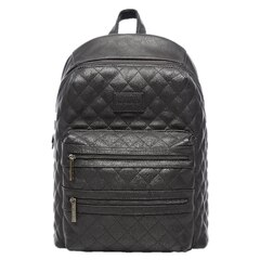 CITY BACKPACK DIAPER BAG, QUILTED BLACK
