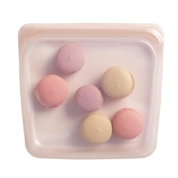 Stasher Pink Shimer Reusable Bag - 15 OZ