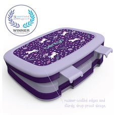 Bentgo Kids Durable & Leak-Proof Children's Lunch Box - Unicorn (Lavender/Purple)