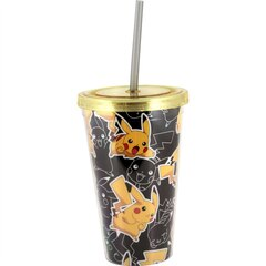 Pokemon Pikachu Double Wall Tumbler with Straw