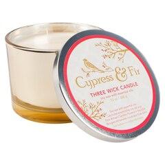 Bougie Olivina® à 3 mèches – Cyprès et sapin