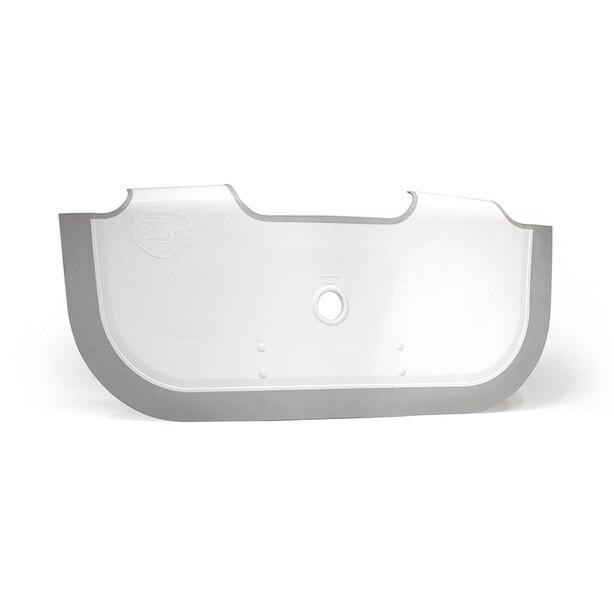 BabyDam Bathtub Bathwater Barrier - White / Grey