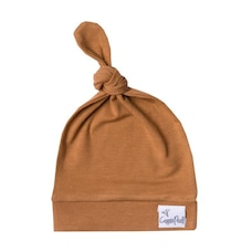 Copper Pearl Adjustable Top Knot Hat Camel
