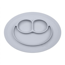 EZPZ Mini Mat Placemat and Plate - Nordic Collection - Pewter