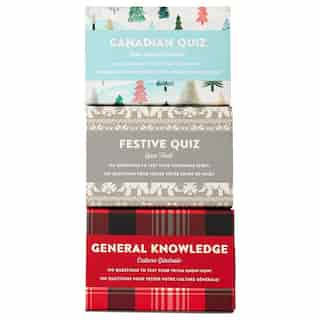 Trivia Set of 3 - Canadian, Festive and General Knowledge